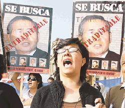 protestas contra  FUJIMORI
