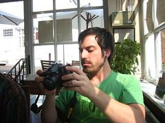 Jason checks the shot