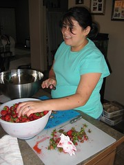 My Daughter Coring Strawberries