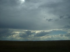 Driving South on Interstate 25 through Wyoming to Colorado July 2007 (Fran 53) Tags: vacation sky storm car clouds south july wyoming dakota deadwood 2007