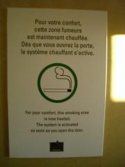 Zones fumeurs chauffées