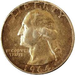 1964 US quarter