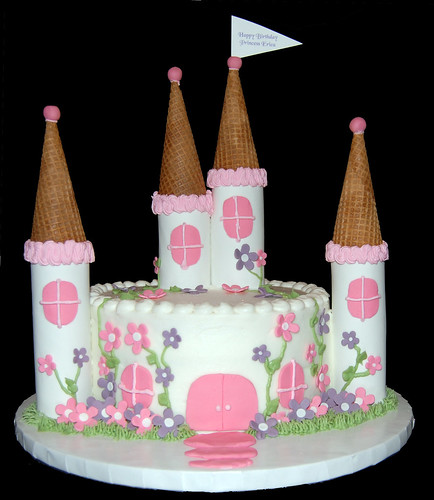 Happy Birthday Erica. small princess castle cake