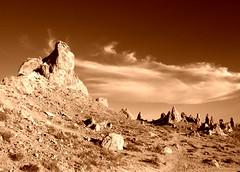 Copper Spires (sandy.redding) Tags: monochrome landscape copper tufa optikverve tronapinnacles explored nikkor1855mmf3556g challengesandcomments