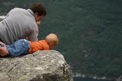 Daring baby (joseppc) Tags: norway preikestolen pulpitrock