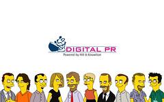 Digital PR International Simpsonized Wallpaper