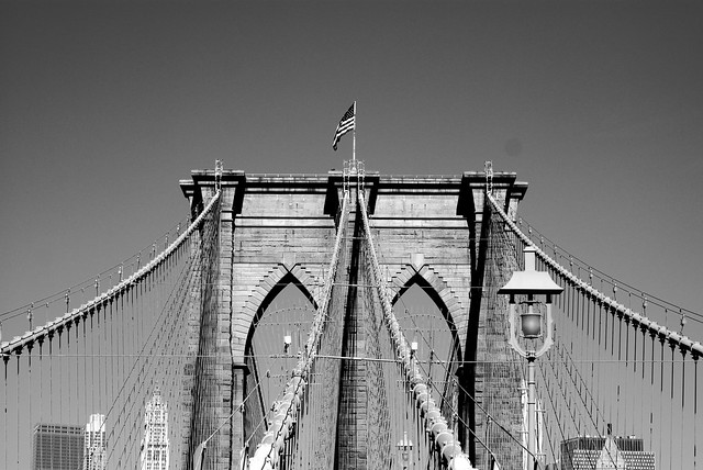 Black and White of the Brooklyn Bridge