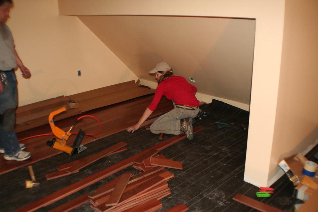 Mahogany Floor Installation