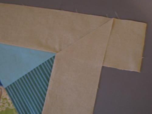 B:  Fold under, align & press