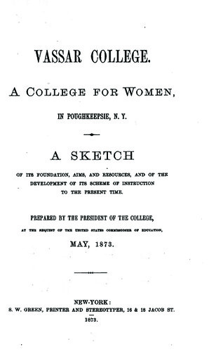 The title page of President Raymond's report.