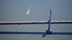 Harmonics (Chris Saulit) Tags: sf sanfrancisco california bridge water northerncalifornia bay fly flying aviation flight aerial baybridge bayarea sanfranciscobay norcal pilot cessna 172 generalaviation baytour sfobb