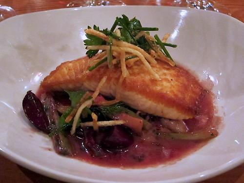 pan-seared salmon at cia