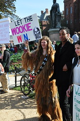 Everything I Need to Know I Learned from Star Wars (JulieFrick) Tags: people signs fun washingtondc jonstewart awesome creative nationalmall wookie stephencolbert letthewookiewin bestrallyever october302010 rallyforsanityandorfear