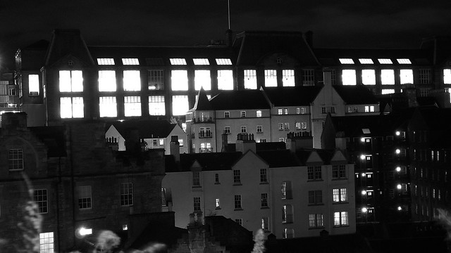 Edinburgh College of Art & Wesport at night
