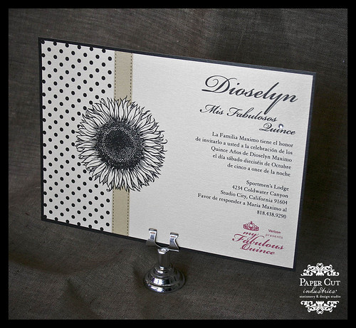 Quinceañera Invitations with Swarovski Crystals in Long Beach, California