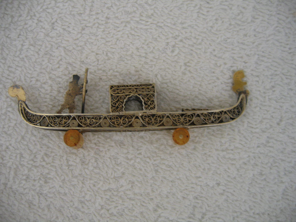 Silver filigree saipan boat