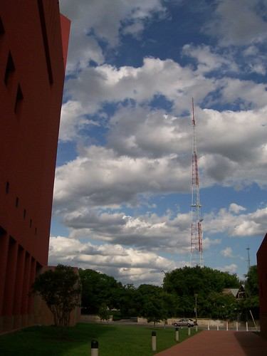 Radio tower clouds
