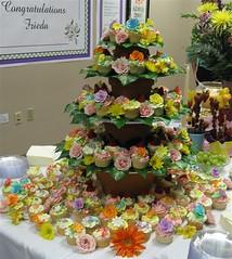Frieda's Garden Cupcakes (mandotts) Tags: birthday flowers garden cupcakes cupcake retirement babyshowerbirthdaycupcakes