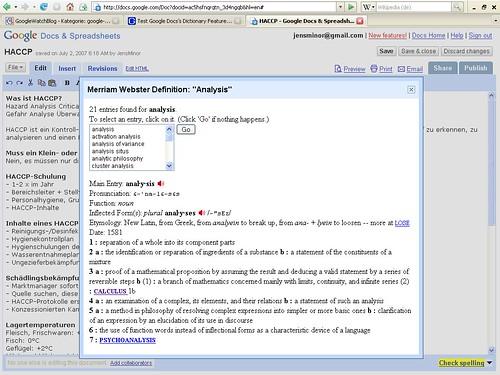 Thesaurus Google Docs Google Docs mit ...