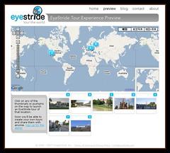 世界中のツアーを写真で楽しめるGoogle Maps(グーグルマップ)とのマッシュアップ「Eye Stride」