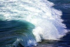 Summer wave. (luisa_m_c_m_cruz) Tags: blue sea summer white portugal colors wave algarve tones amado supershot mywinners