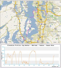 Return Bike Route from Gig to Seattle
