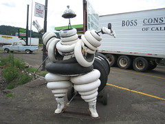 Rice Hill's Version of The Michelin Man (Minshall) Tags: strange oregon photography tire michelin ricehill minshall tireman