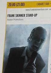 Frank Skinner Stand-Up, Edinburgh Festival Fringe programme extract 2007