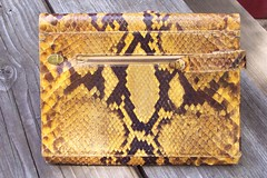 snakeskin purse (sparesomechange) Tags: ebay reptile purse thrift snakeskin