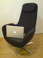 The Throne (Jesper Alm) Tags: ikea book mac karlstad pro 17 armchair swivel macbook