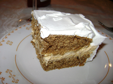pumpkin pie cheesecake ... cake ... with whipped cream