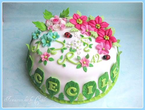 Torta Primavera / Spring Flowers Cake