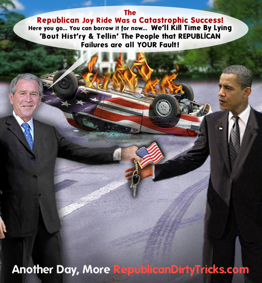 Bush Passes His Catastrophic Success To Obama Image