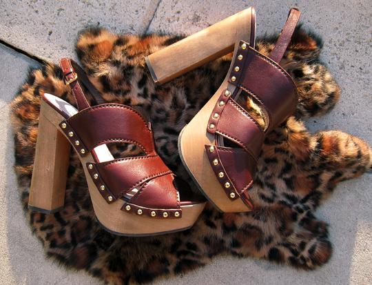 Miu Miu CLogs+platform studded sandals