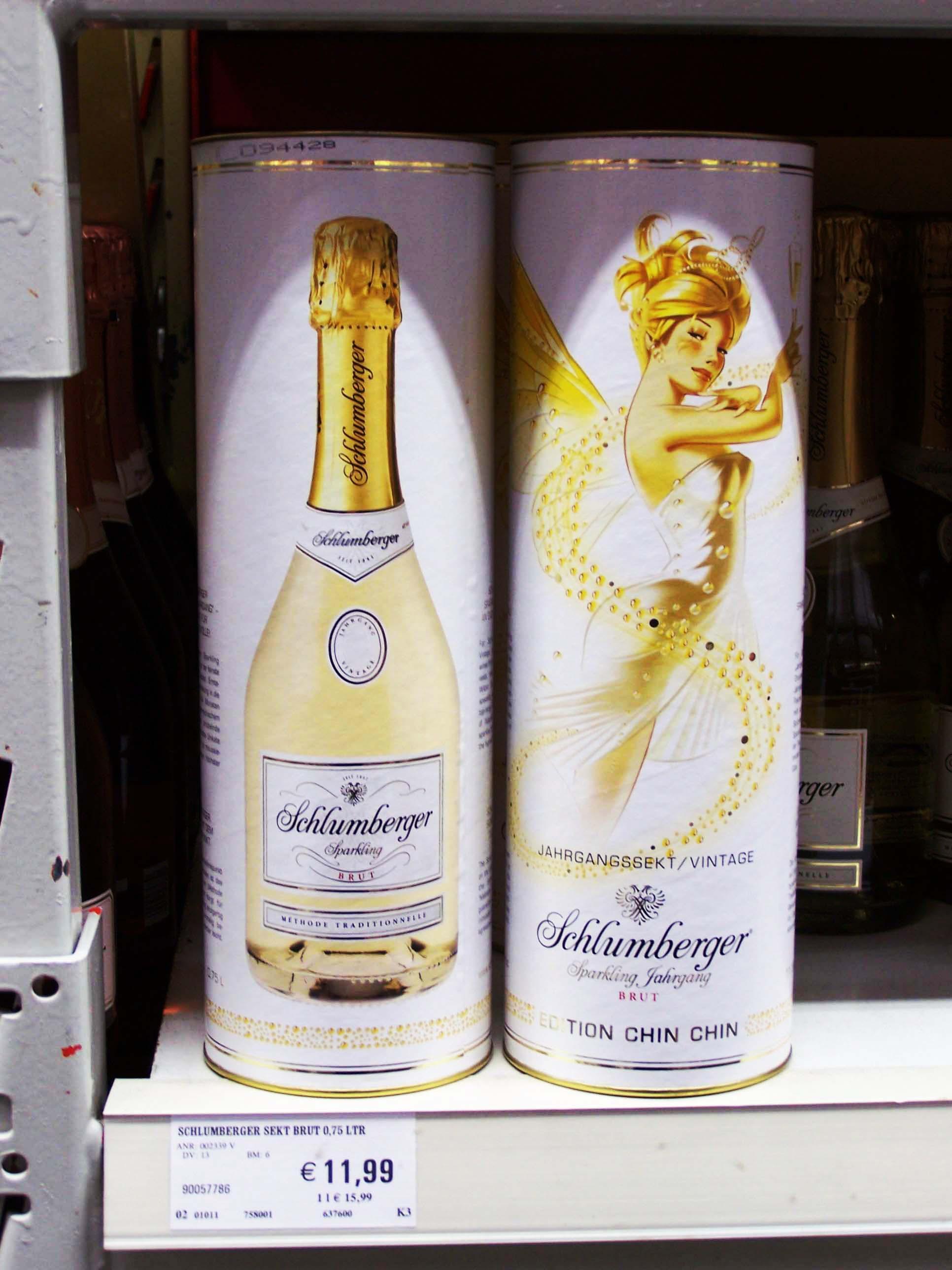 Schlumberger Sekt im V-Markt München