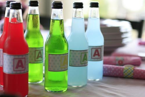 re-labeled jones soda bottles