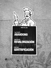 (...uno che passava... (senza ombrello)) Tags: madrid urban bw bn gentrification bncitt