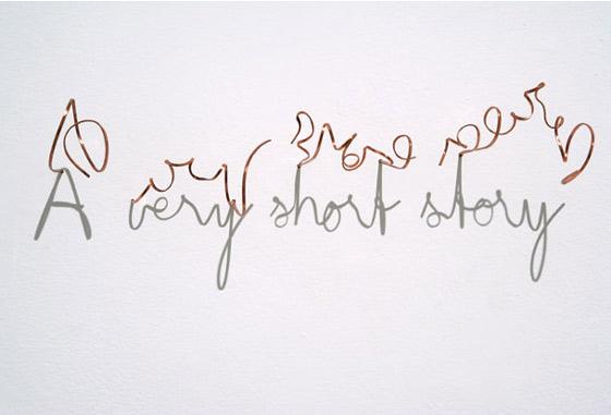 tipografía creada con sombras