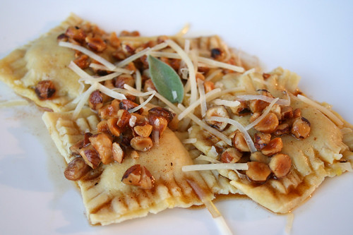 ... Squash, Sage, and Goat Cheese Ravioli with Hazelnut Brown-Butter Sauce