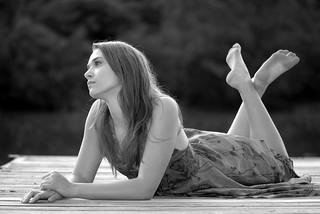 Girl On A Dock