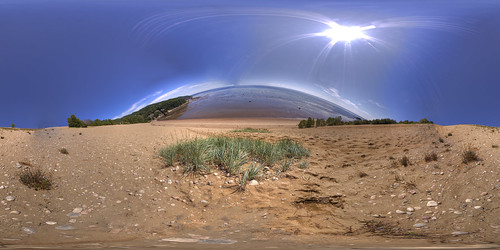 The wave is coming! - Equirectangular Panorama in Tadoussac, Quebec.