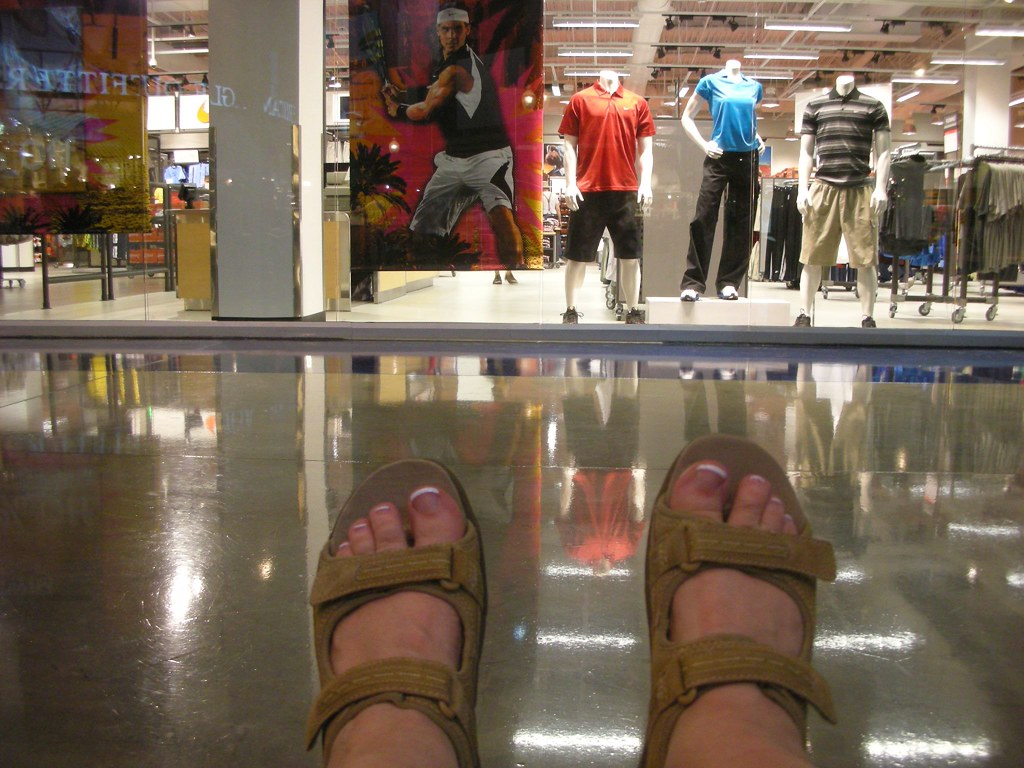 My New Sandals - Outlet Mall in Primm, Nevada