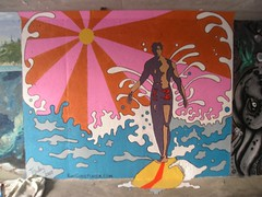 Finished Mural 2007 (Kurt Christensen) Tags: art beach painting mural surfer gilgobeach gilgo