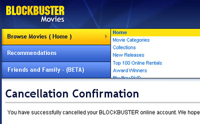 blockbuster canceled