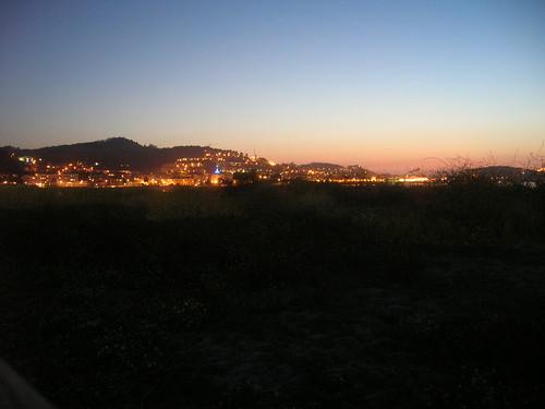Baiona en la noche