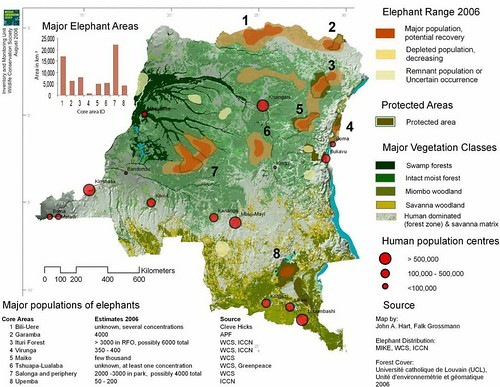 Elephant concentrations in DR Congo
