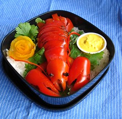mock lobster 3 (Sakurako Kitsa) Tags: roma tomato asian lunch shellfish lobster bento crustacean sakurako obento kitsa excapture sakurakokitsa