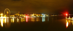 zrich (szajmon) Tags: longexposure panorama lake night switzerland bay wide zrich zrichsee longexp