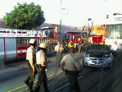 car vs train (The Mitzikin Revolution) Tags: cameraphone blueline