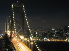 downtown black tie (pbo31) Tags: sf sanfrancisco california road above city bridge light summer sky urban usa black color northerncalifornia yellow night america canon dark bay moving movement noir cityscape treasureisland darkness cross traffic over citylife favorites august move latenight baybridge bayarea sanfranciscobay nightsky 80 2007 urbanlandscape roadway metropolitian lightstream eastbaybridge urbanarea traffictrail